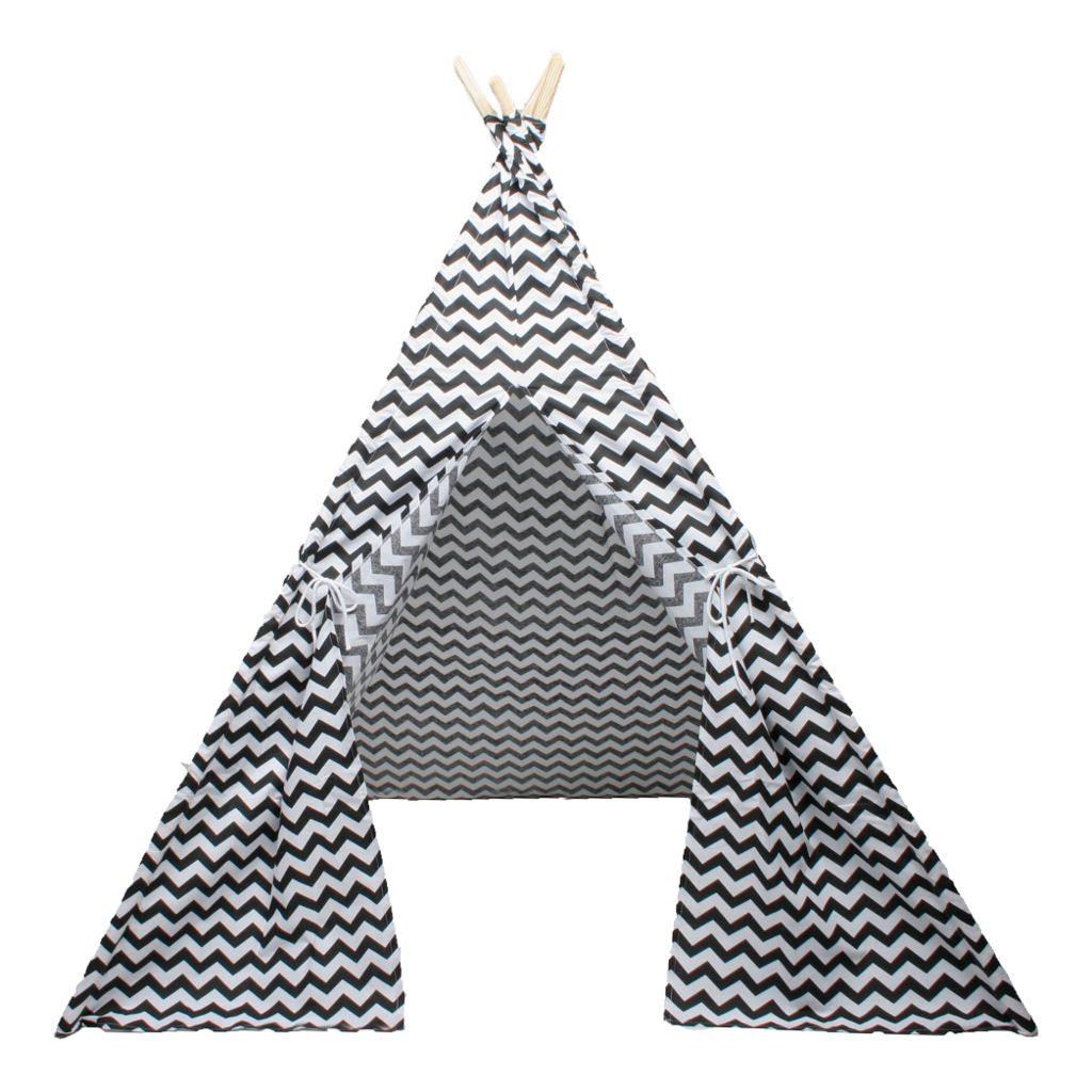 Tipi Zigzag Zwart Wit