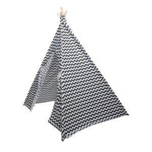 Tipi Zigzag Zwart Wit Zijkant
