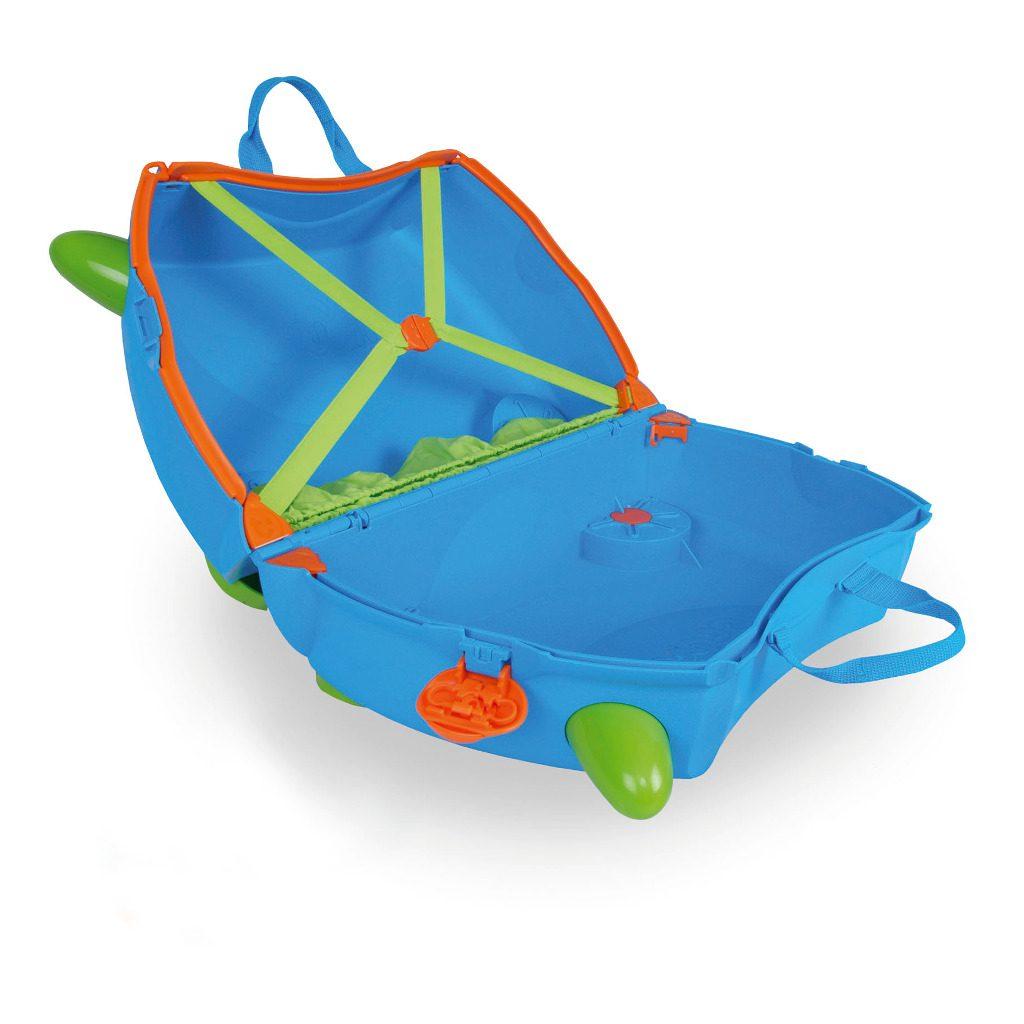 Trunki Blauw Trolley Handbagage Speel Logeer Vakantie Koffer Wielen Trekkoort 1 Trunki Trun-9220005