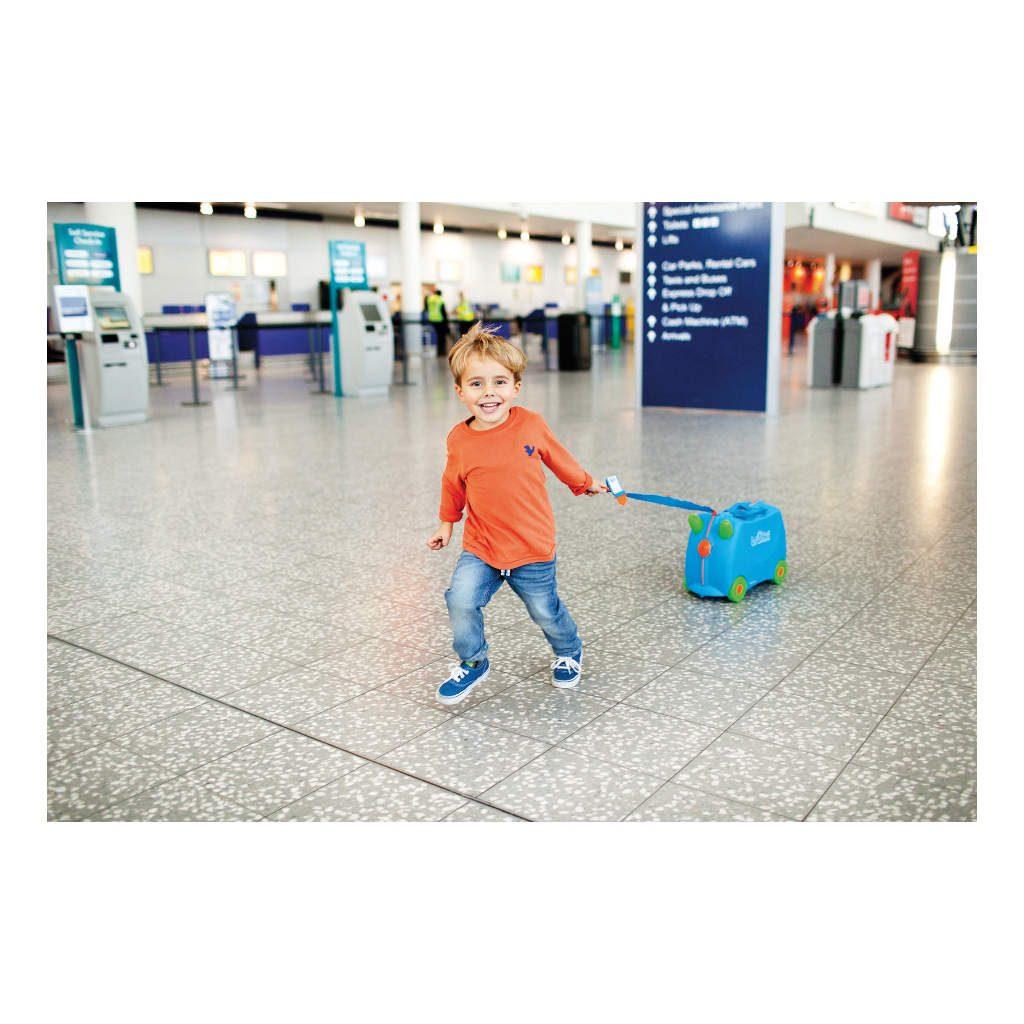 Trunki Blauw Trolley Handbagage Speel Logeer Vakantie Koffer Wielen Trekkoort 11 Trunki Trun-9220005