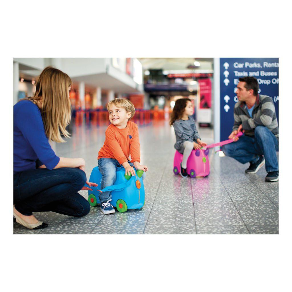 Trunki Blauw Trolley Handbagage Speel Logeer Vakantie Koffer Wielen Trekkoort 14 Trunki Trun-9220005