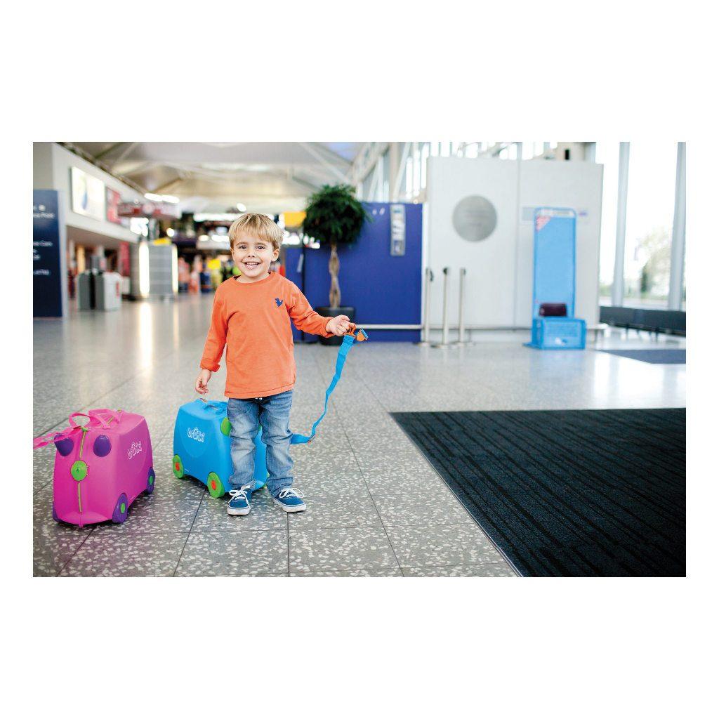 Trunki Blauw Trolley Handbagage Speel Logeer Vakantie Koffer Wielen Trekkoort 15 Trunki Trun-9220005