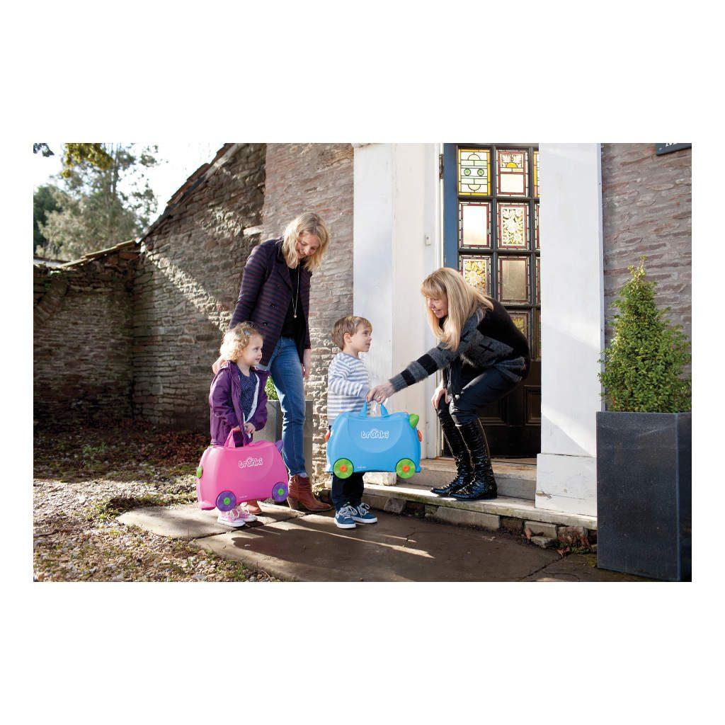 Trunki Blauw Trolley Handbagage Speel Logeer Vakantie Koffer Wielen Trekkoort 16 Trunki Trun-9220005