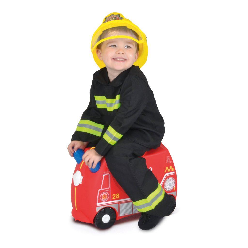 Trunki Brandweerwagen Trolley Handbagage Speel Logeer Vakantie Koffer Wielen Trekkoort 4 Trunki Trun-9220254
