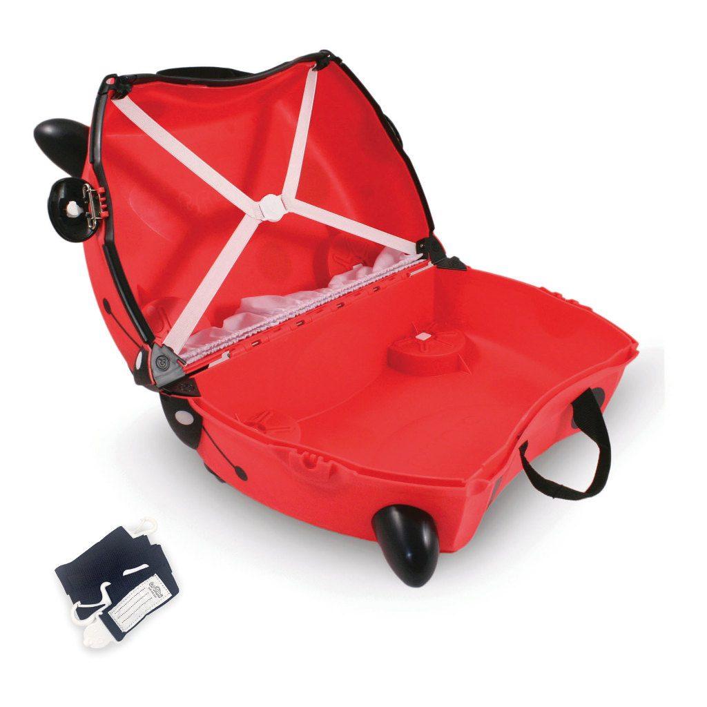 Trunki Lieveheersbeestje Trolley Handbagage Speel Logeer Vakantie Koffer Wielen Trekkoort 1 Trunki Trun-9220009