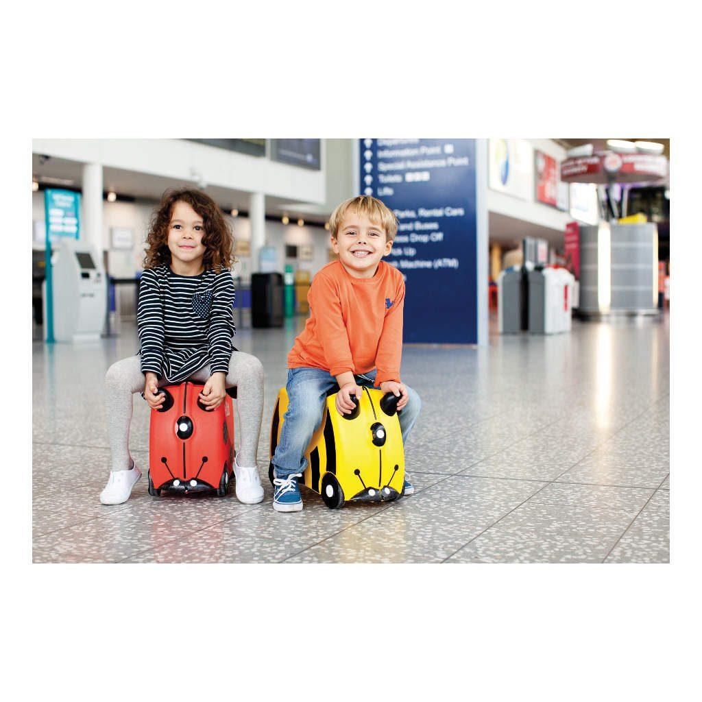 Trunki Lieveheersbeestje Trolley Handbagage Speel Logeer Vakantie Koffer Wielen Trekkoort 6 Trunki Trun-9220009