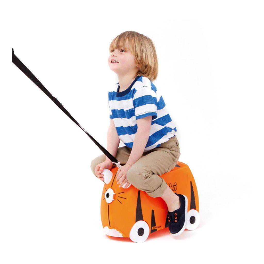Trunki Tijger Trolley Handbagage Speel Logeer Vakantie Koffer Wielen Trekkoort 2 Trunki Trun-9220008