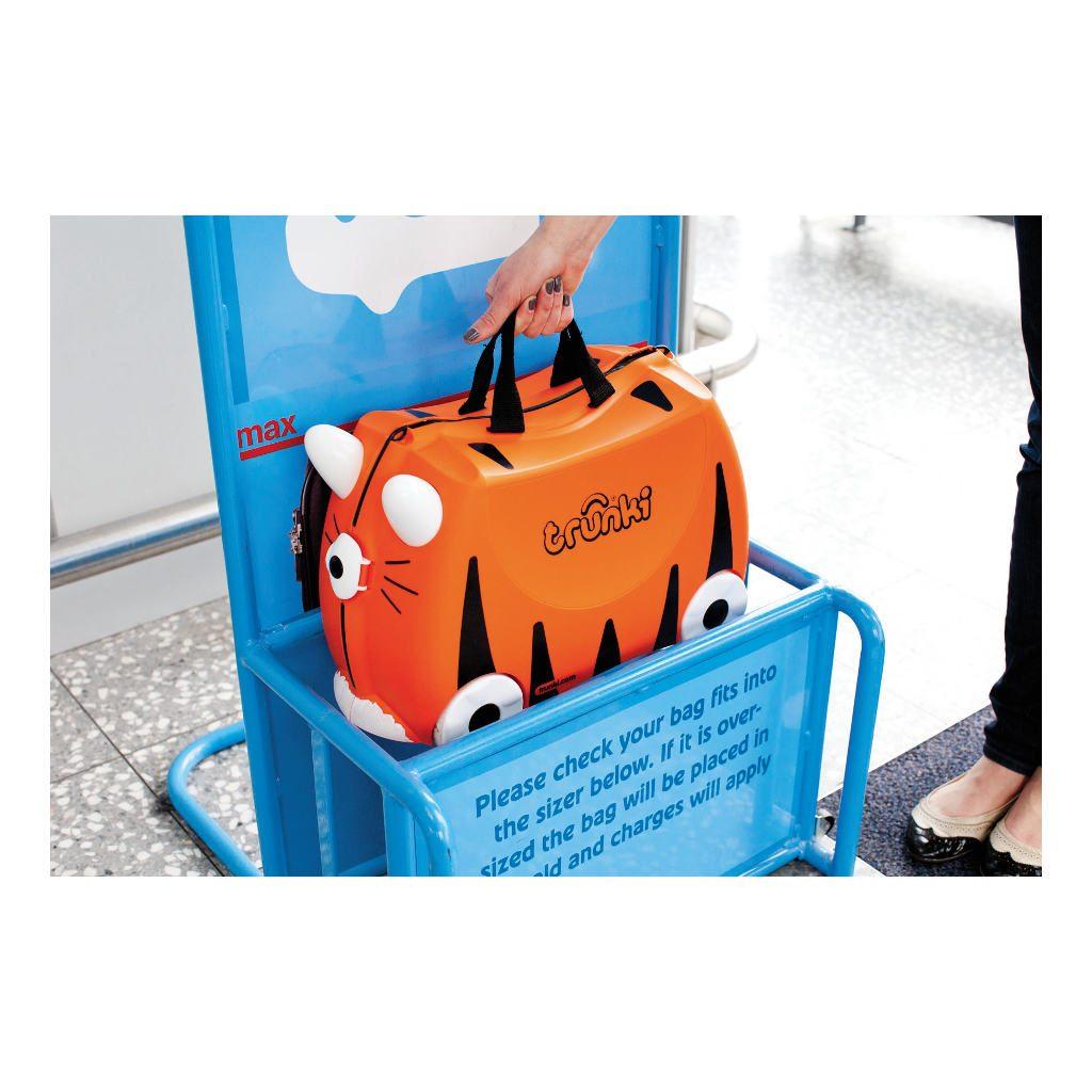 Trunki Tijger Trolley Handbagage Speel Logeer Vakantie Koffer Wielen Trekkoort 5 Trunki Trun-9220008