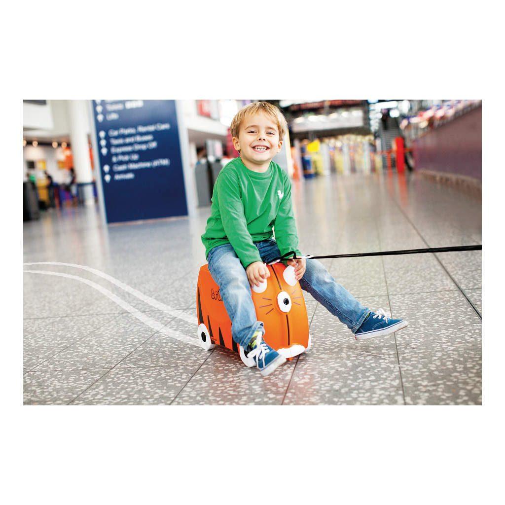 Trunki Tijger Trolley Handbagage Speel Logeer Vakantie Koffer Wielen Trekkoort 6 Trunki Trun-9220008
