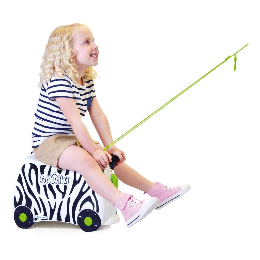 Trunki Zebra Trolley Handbagage Speel Logeer Vakantie Koffer Wielen Trekkoort 2 Trunki Trun-9220264