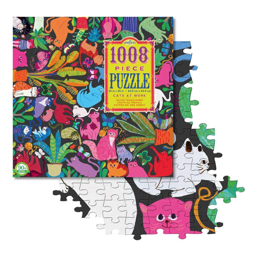 Vloerpuzzel 1008-Delig Katten Eeboo Stevige Stukjes Puzzel Afbeelding Puzzel Stukje Eebo-9650651