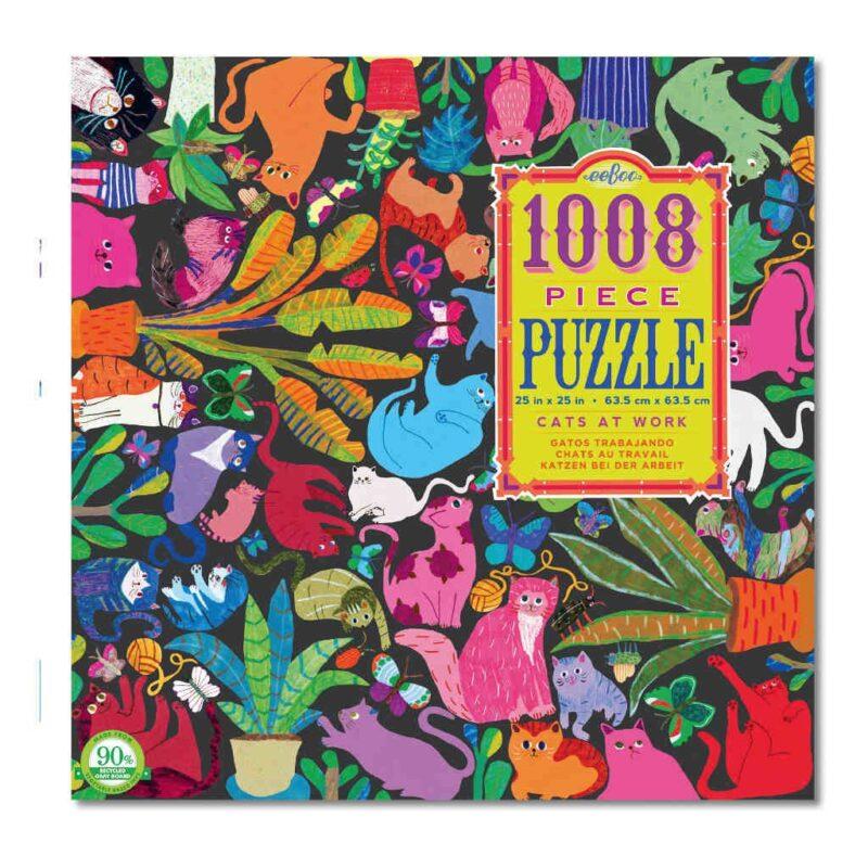 Vloerpuzzel 1008-Delig Katten Eeboo Stevige Stukjes Puzzel Eebo-9650651
