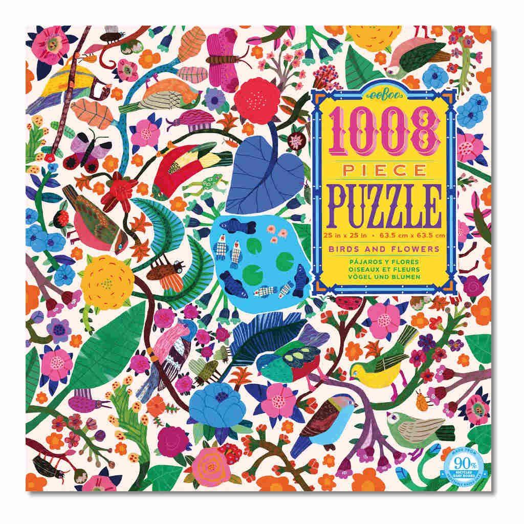 Vloerpuzzel 1008-Delig Vogels En Bloemen Eeboo Stevige Stukjes Puzzel Eebo-9650601