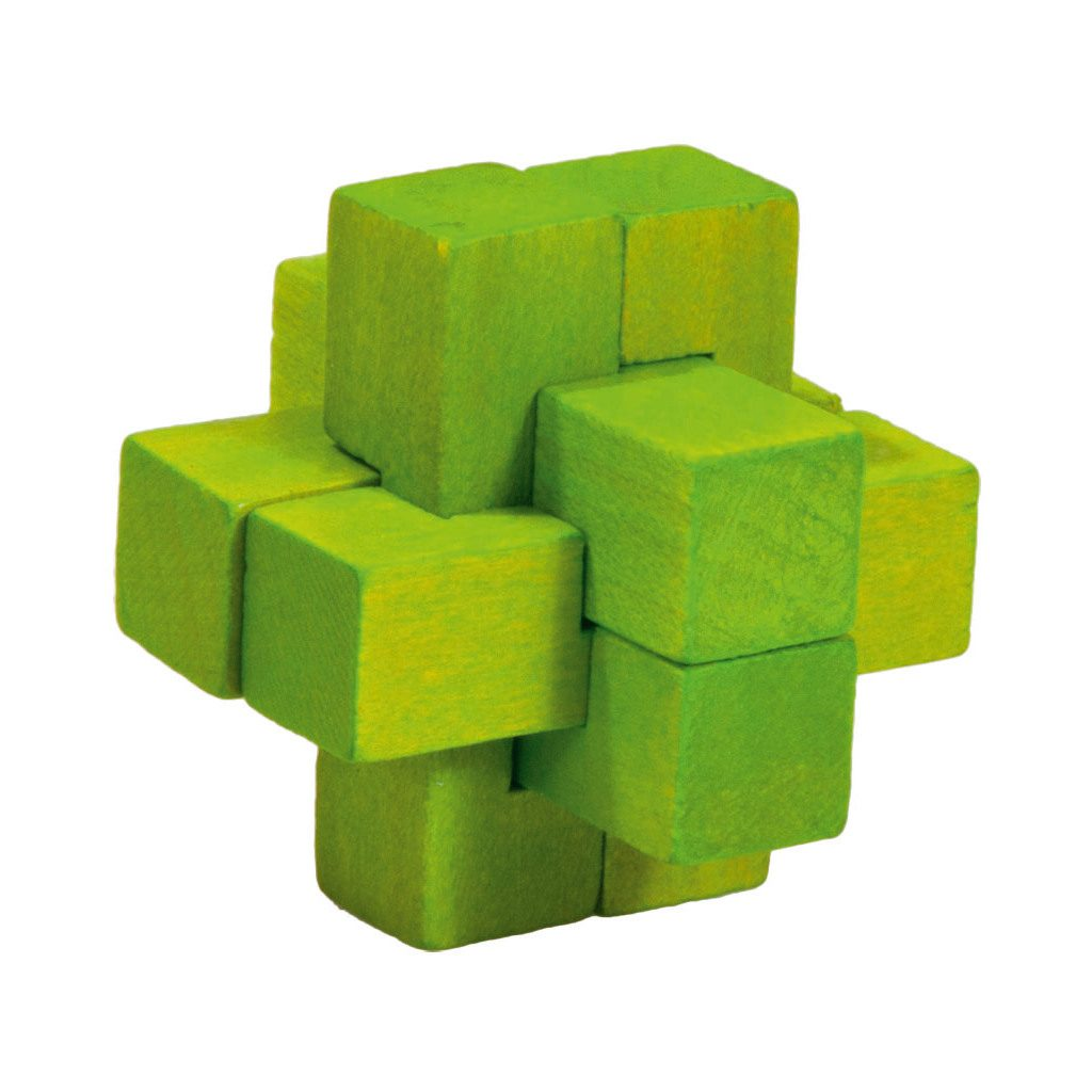 3D Mini Puzzel Van Hout Groen Hersenbreker rizz-17596