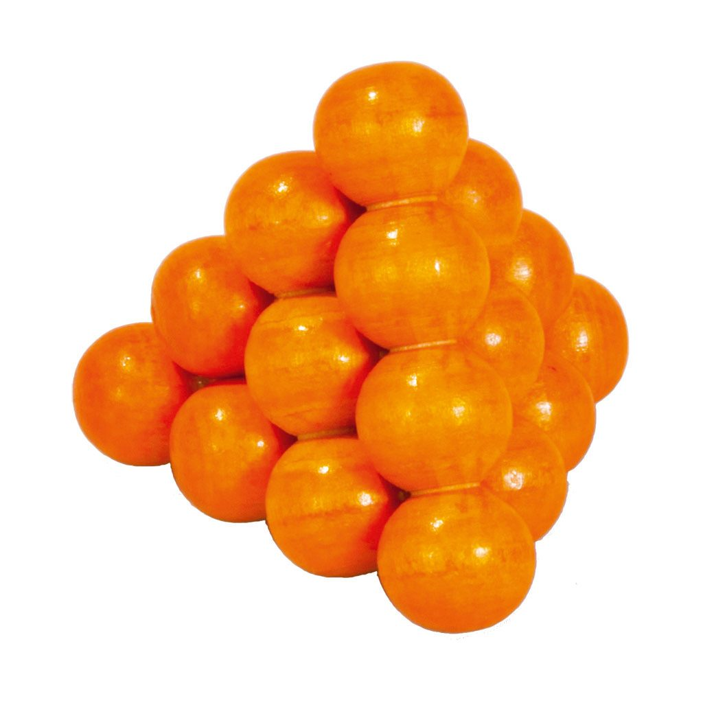 3D Mini Puzzel Van Hout Oranje Hersenbreker rizz-17593