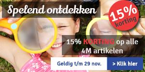 15% KORTING op alle 4M artikelen