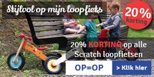 20% KORTING op Scratch loopfietsen