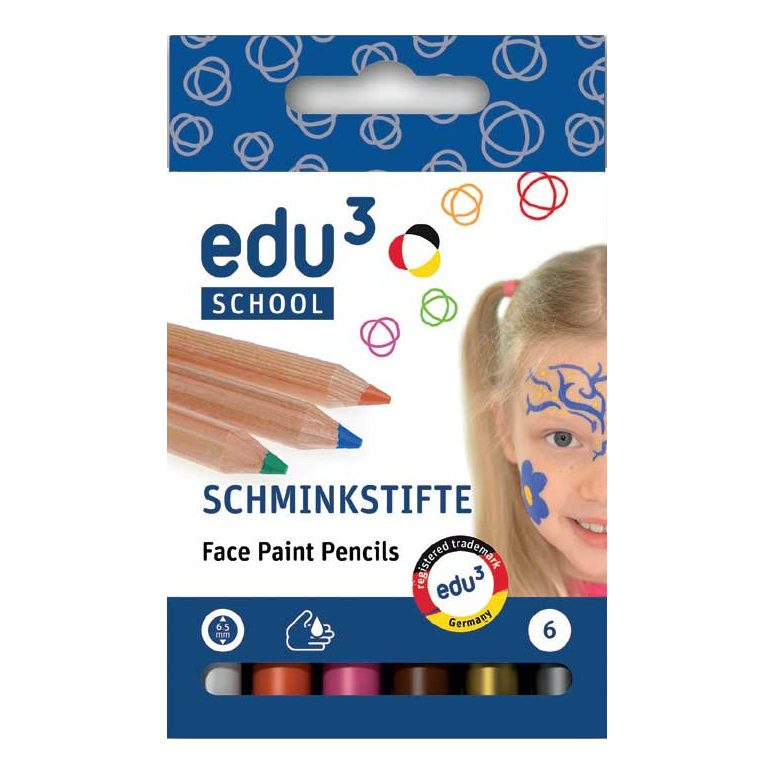 Schmink Stift Plus Rond (6 Kleuren Ass) Edu3 Edu3-2401712006