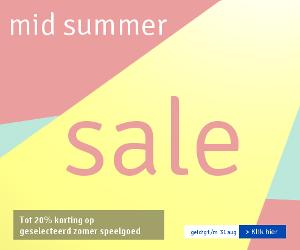 Zomerspeelgoed korting tot 20%. Mid Summer Sale. Profiteer snel!