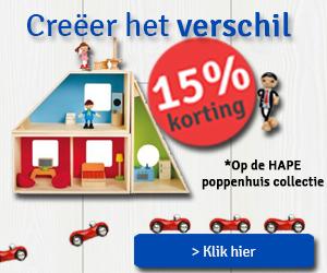 Poppenhuis actie, profiteer nu van 15% korting, t/m 26 september 2017