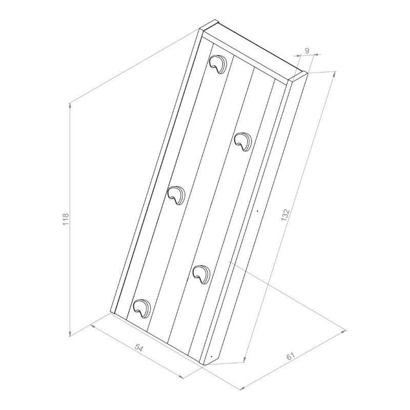 Bruine Klimwand Voor Speelhuis Axi Klim Klauter Trap Maat Grote Axi Axis-A030.176.00