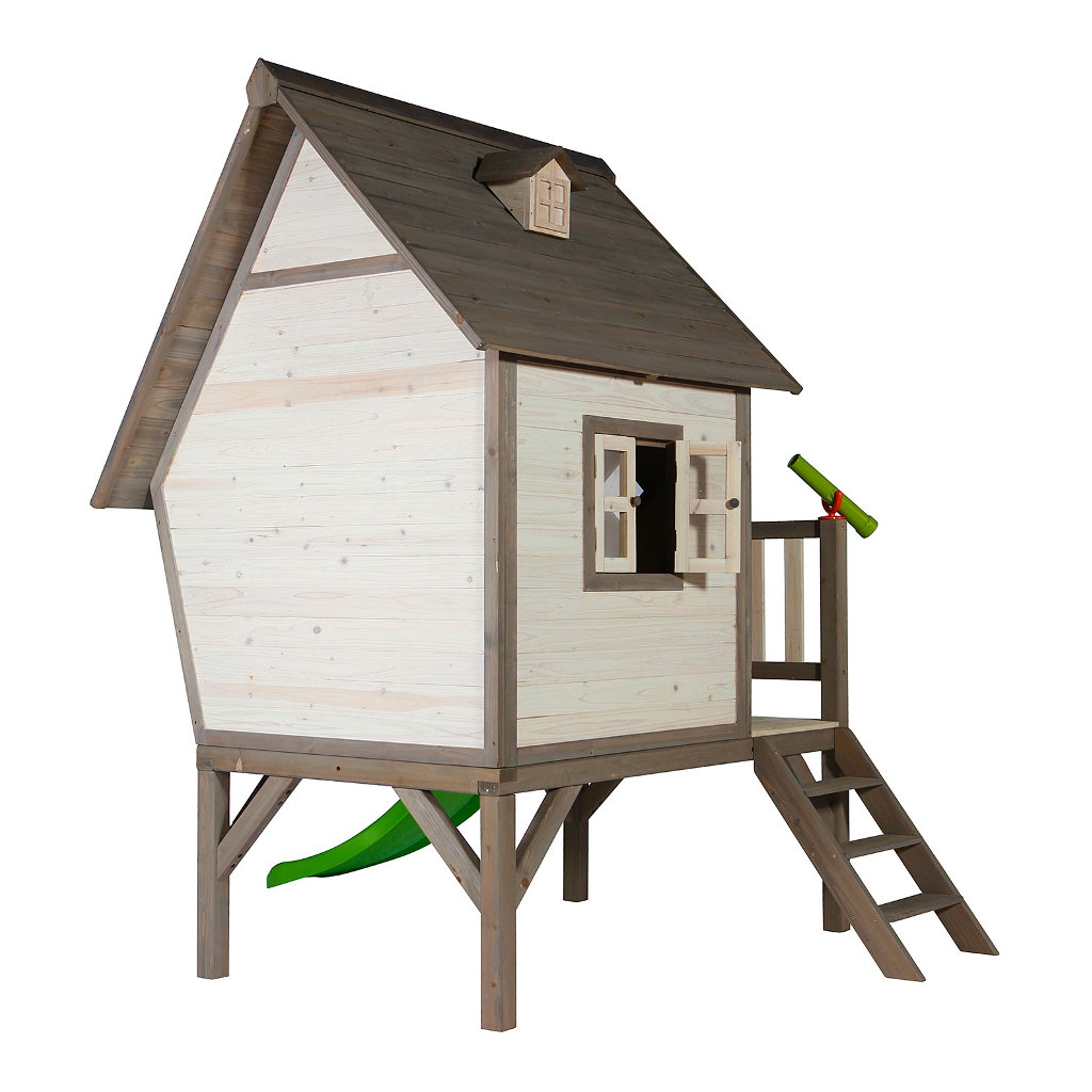 Cabin Xl Huisje Sunny Speel Tuin Huis Neutraal Kleur Hout Peuter Kleuter Trap Glijbaan QIDDIE.com Sunn-C050.004.00