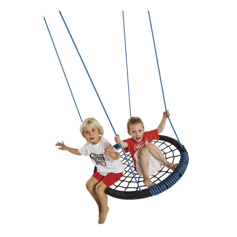Oval Blauw Nestschommel Axi Net Groot Rond Schommel Veel Kinderen Axis-A188.001.04