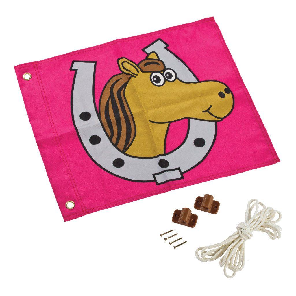 Paard Vlag Met Hijssysteem Speel Huis Tuin Huis Axi Axis-A507.014.00