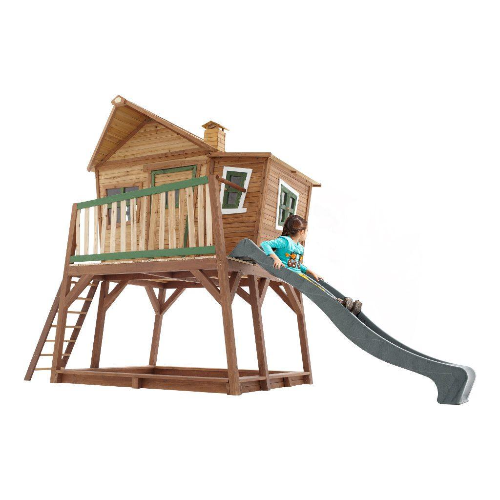 Speelhuis Max Axi Peuter Kleuter 18 Mnd 2 J 3 J 4 J 5 J 6 J 7 J 8 J Tuin Huis Speelhuisje Speel Huis 3 Meter Hoog Stevig Mooi Glijbaan Schuin Meisje Jongen 10 Axis-A030.150.00