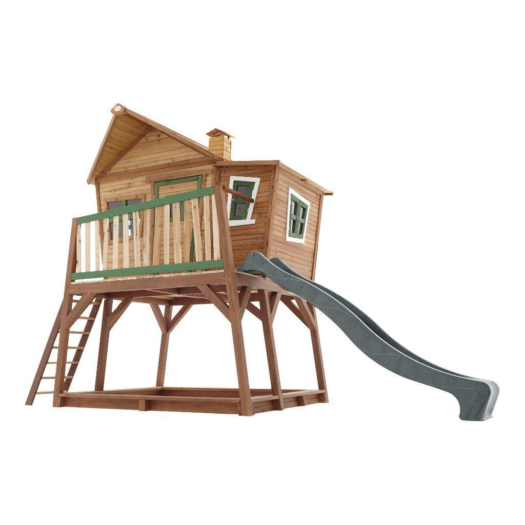 Speelhuis Max Axi Peuter Kleuter 18 Mnd 2 J 3 J 4 J 5 J 6 J 7 J 8 J Tuin Huis Speelhuisje Speel Huis 3 Meter Hoog Stevig Mooi Glijbaan Schuin Meisje Jongen Axis-A030.150.00