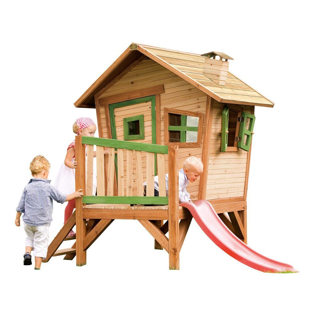 Speelhuis Robin Axi Peuter Kleuter 18 Mnd 2 J 3 J 4 J 5 J 6 J 7 J 8 J Tuin Speel Huis Huisje Glijbaan Trap Deur Raam Laag Stevig Schuin Meisje Jongen Axis-A030.045.00