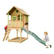Speelhuis Sarah Axi Peuter Kleuter 18 Mnd 2 J 3 J 4 J 5 J 6 J 7 J 8 J Tuin Speel Huis Glijbaan Zand Bak Veranda Balkon Hoog Trap Stevig Mooi Meisje Jongen Axis-A030.038.00