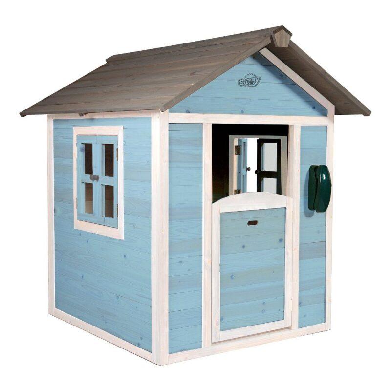 Sunny Lodge Caribean Blauw Wit Peuter Kleuter 18 Mnd 2 J 3 J 4 J 5 J 6 J 7 J 8 J Tuin Speel Huis Huisje Stevig Mooi Deur Raam Meisje Jongen Sunn-C050.001.01