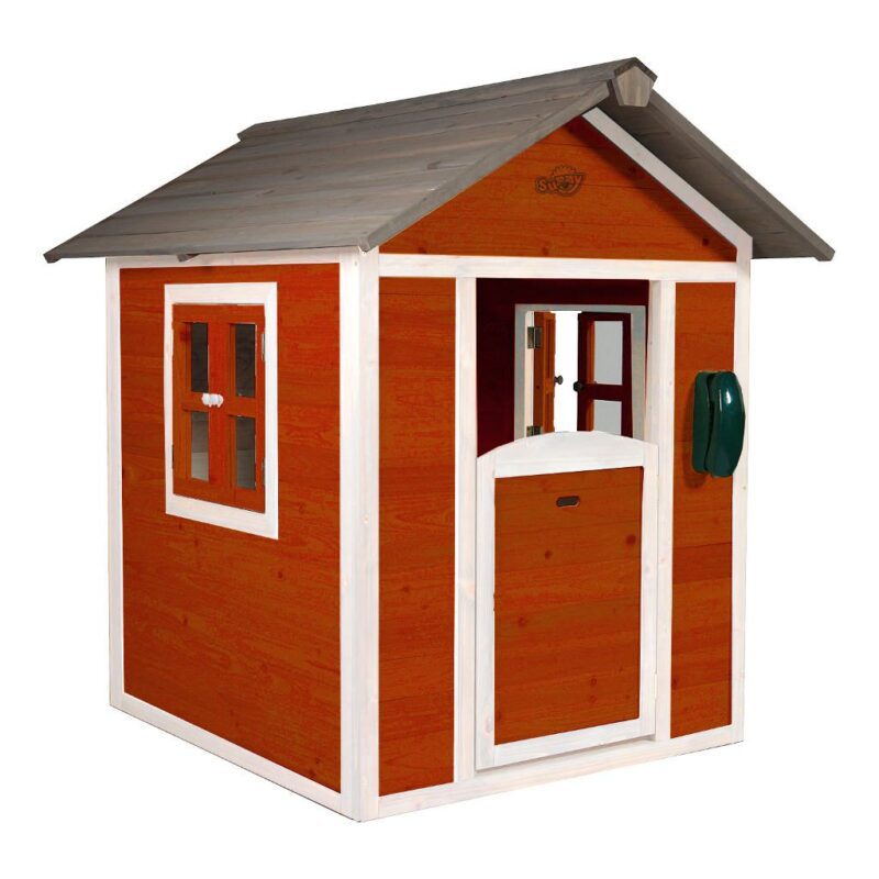 Sunny Lodge Scandinavian Rood Wit Peuter Kleuter 18 Mnd 2 J 3 J 4 J 5 J 6 J 7 J 8 J Tuin Speel Huis Huisje Deur Raam Stevig Meisje Jongen Sunn-C050.001.05