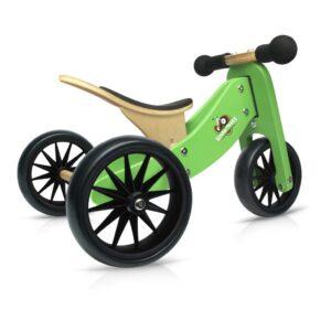 Tiny Tot Groen 2-in-1 Kinderfeets 3 Wieler Loopfiets kind-kf86644