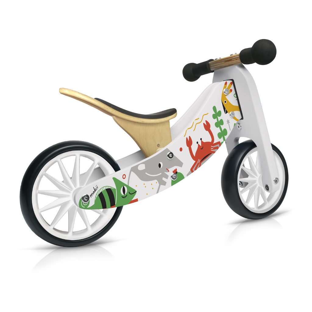 Tiny Tot Makii 2-in-1 Kinderfeets 2 Wieler Loopfiets kind-kf11888