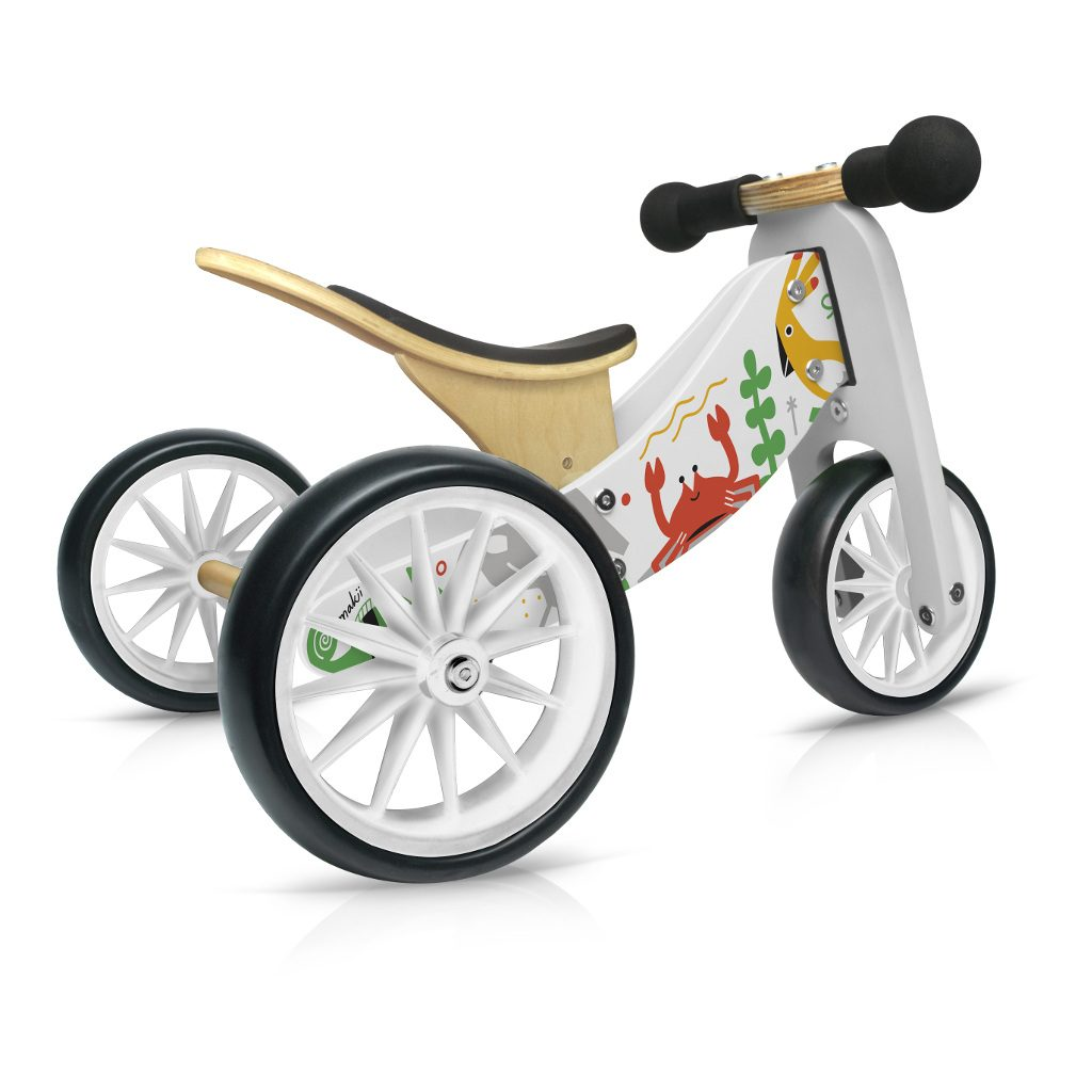 Tiny Tot Makii 2-in-1 Kinderfeets 3 Wieler Loopfiets kind-kf11888