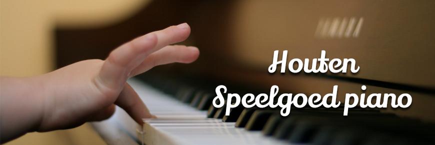 Houten speelgoed piano