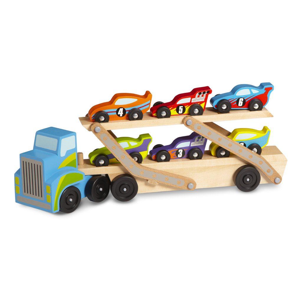 Extra Grote Truck Met Raceauto | Melissa & Doug