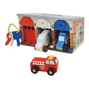 Garage Met Sleutels En Reddingsvoertuigen Auto Starten 3 Melissa And Doug Meli-14607