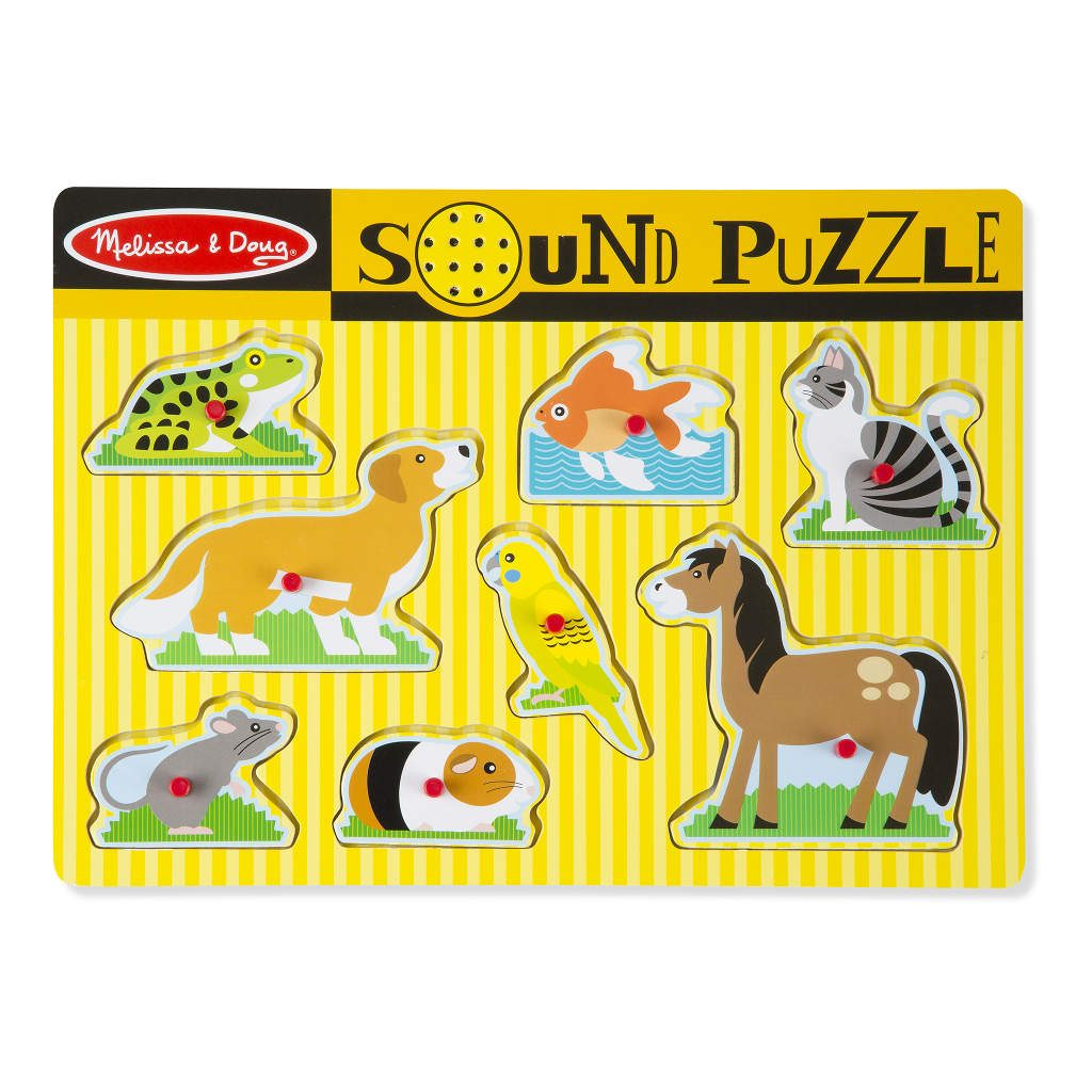 Huisdieren Puzzel Met Geluid   Melissa & Doug
