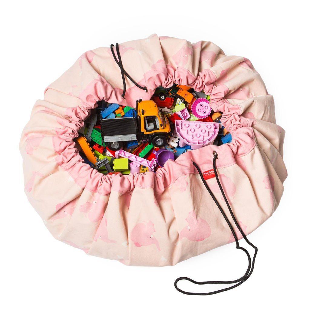 Pink Elephant Play And Go Olifant Opbergzak Speelkleed Play-180162750