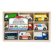 Stadsvoertuigen 9 St. In Kist | Melissa & Doug