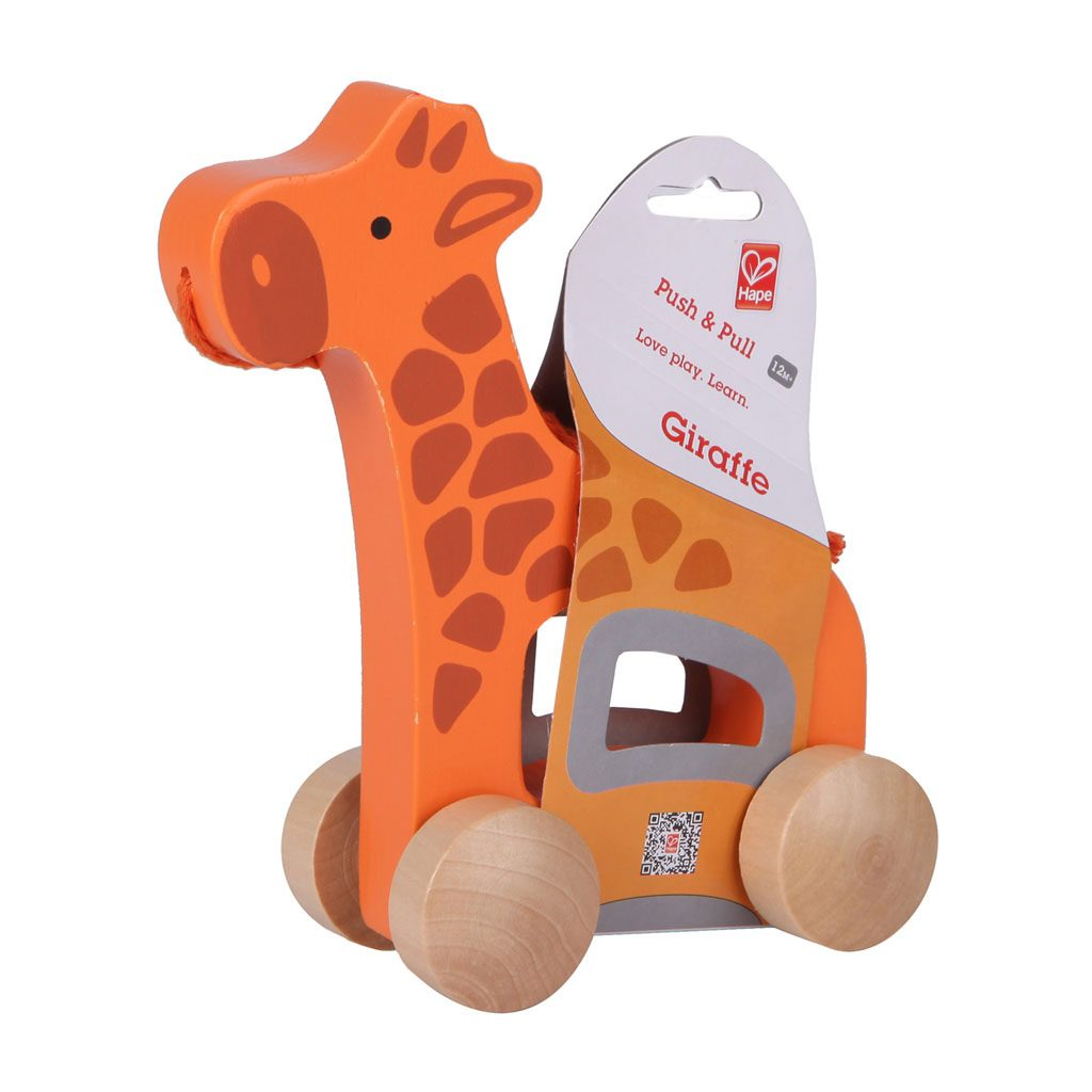 Trekfiguur Giraffe Hape Verpakking Hape-E0906