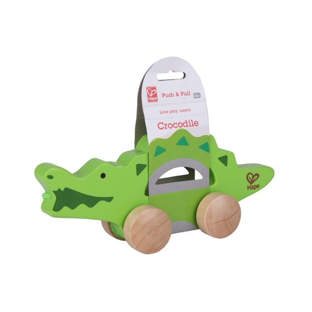 Trekfiguur Krokodil Hape Trekfiguur Krokodil Hape Dier Trek Loop Touw Hape-E0907 1024X1024erpakking Hape-E0907