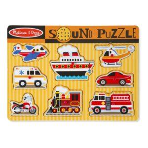 Voertuigen Puzzel Met Geluid | Melissa & Doug