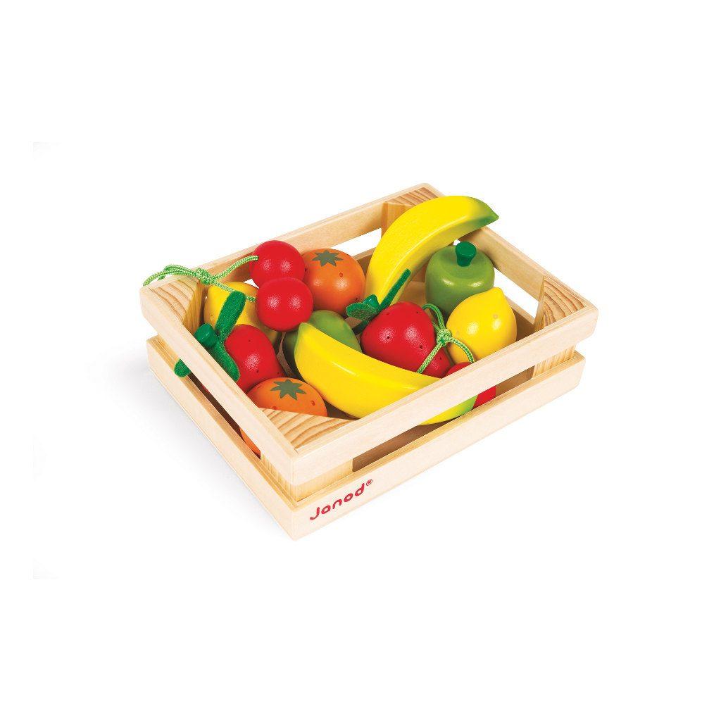 12-Delig Fruit Krat Janod