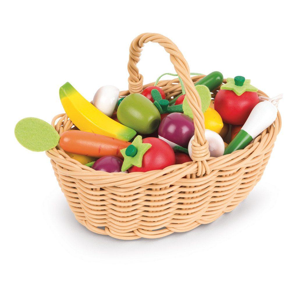 24-Delig Groente En Fruit Mand Janod