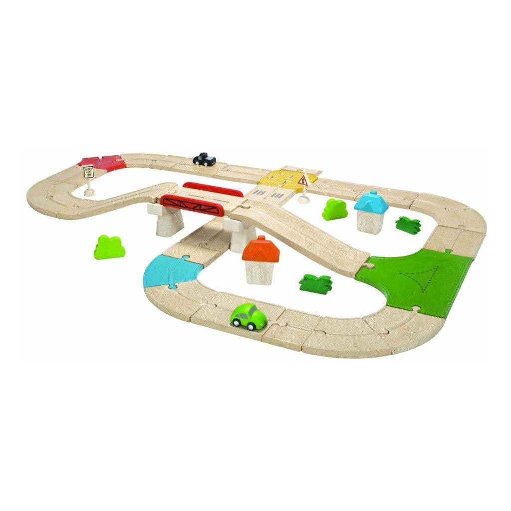 42-Delig Wegsysteemset Hout Plan Toys