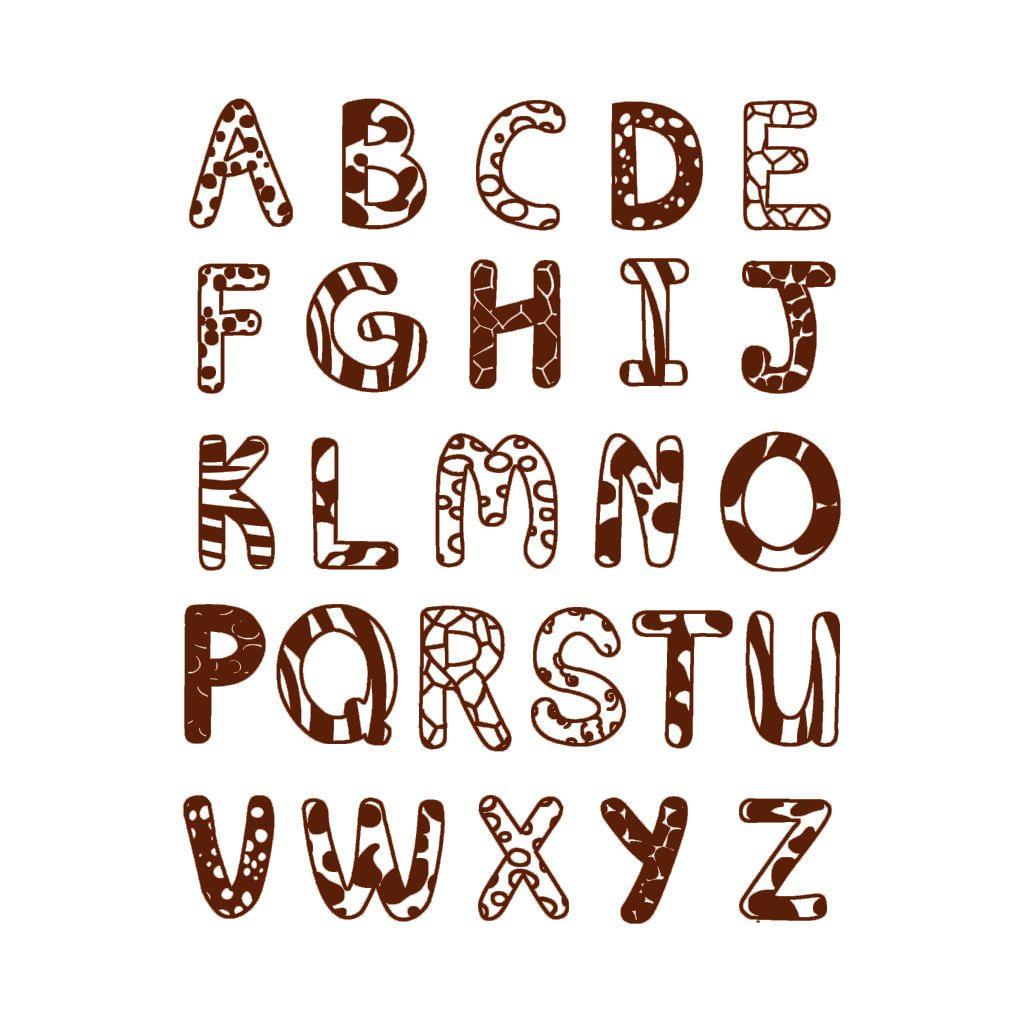 Alfabet Grote Letters Stempels Aladine